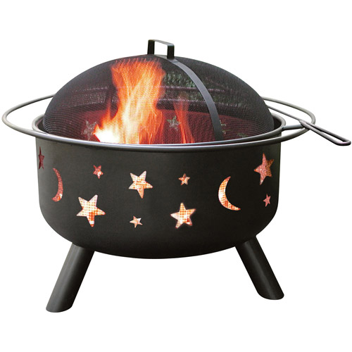 Landmann Big Sky Fire Pit, Stars and Moon, Black