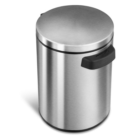 Nine Stars DZT-5-1 Touchless Stainless Steel 1.3 Gallon Trash Can