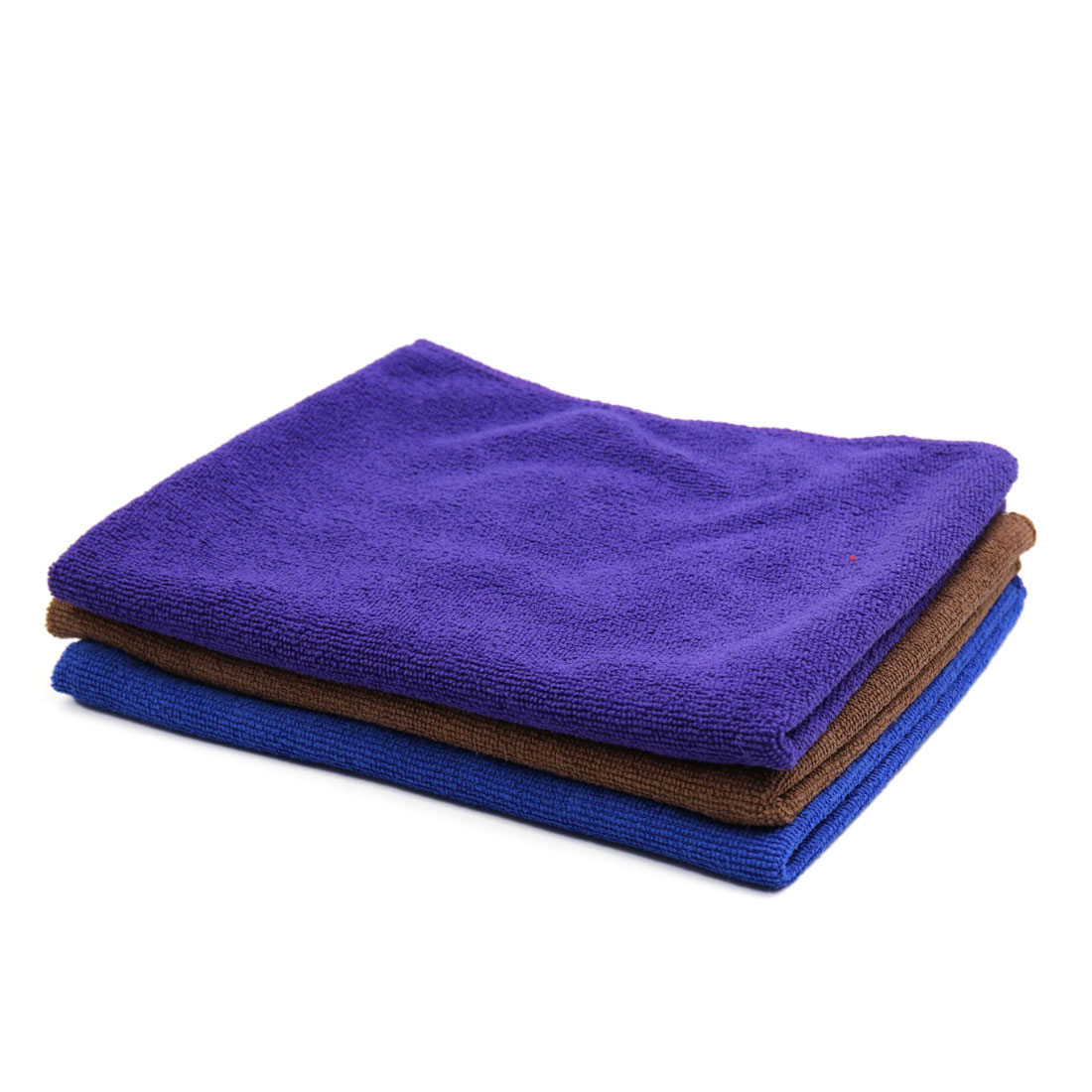 3 Pcs High Absorbing Car Clean Cloth Towel No-scratched for Car Auto-vehicle Blue Purple Coffee Color