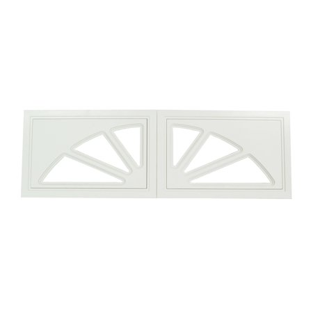 Garage Door Window 2 Part Sunburst Design (2 Door Garage)