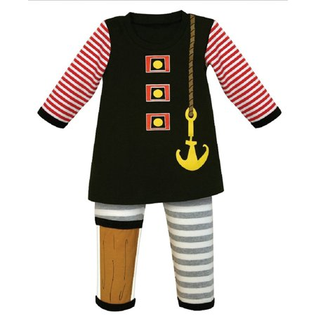 Stephan Baby 2 Piece Boys Pirate Outfit (12-18 Months) (Pirate Outfit Ideas)