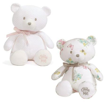 Teddy Bear Girl (Baby GUND Little Me Girls Teddy Bear Stuffed Animal Plush Bundle,)