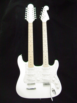 Zenison Double Neck Electric Guitar WHITE 12 String & 6 String by