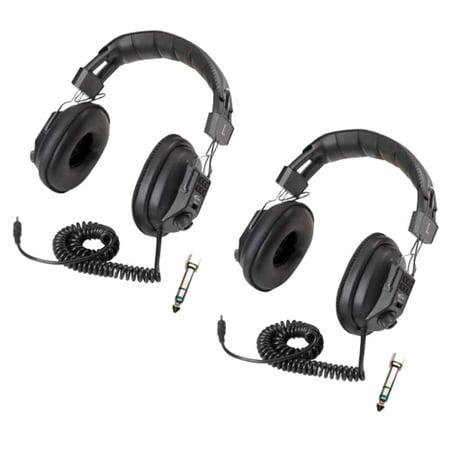 Califone 3068AV Switchable Stereo/Mono Headphone (Black, 2-Pack)