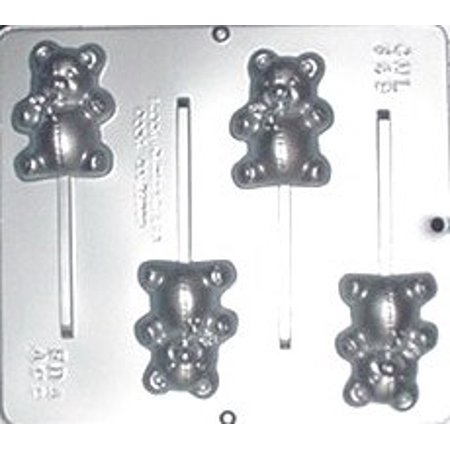 649 Teddy Bear Lollipop Chocolate Candy Mold ()