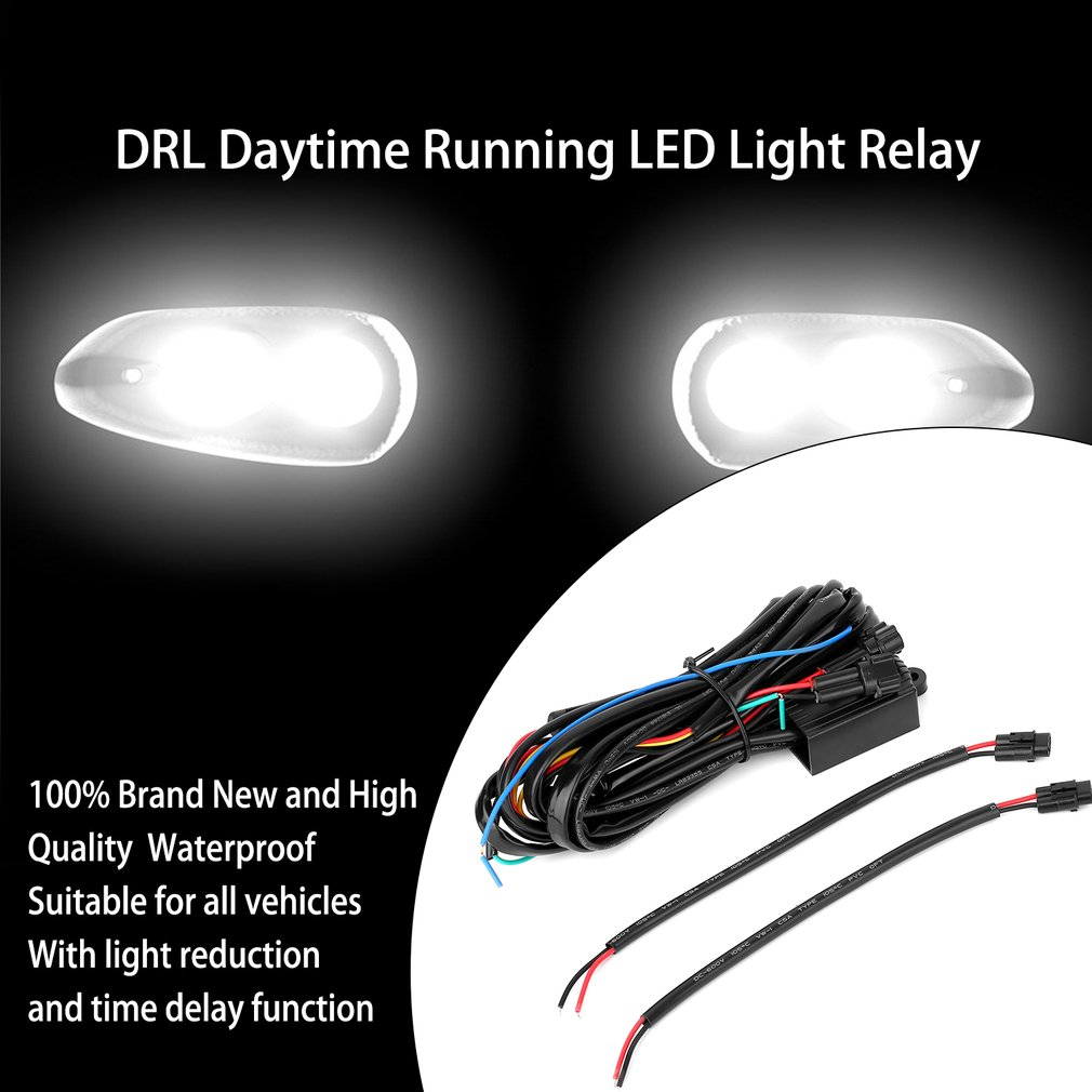 DRL Controller Car LED Daytime Running Light Relay Harness Control On/OffOn Sale