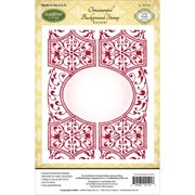 """JustRite Papercraft Cling Background Stamp 4.5""""X5.75""""-Ornamental"""