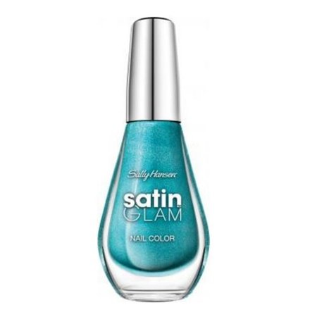 Sally Hansen Satin Glam Nail Color, Teal Tulle, 0.33 fl oz
