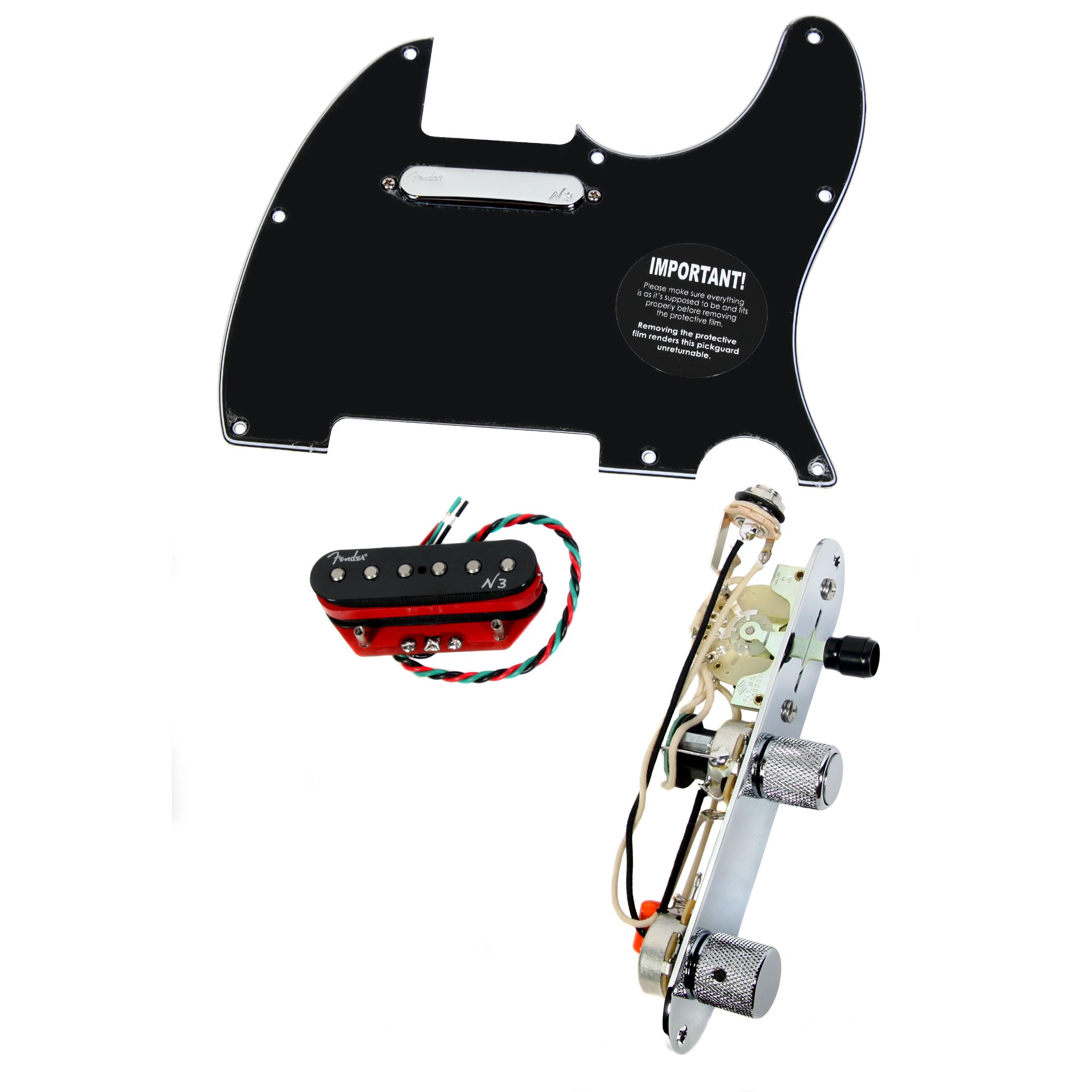 920D Tele Loaded Pickguard Fender N3 Noiseless Pickups w/S1 Switch BK