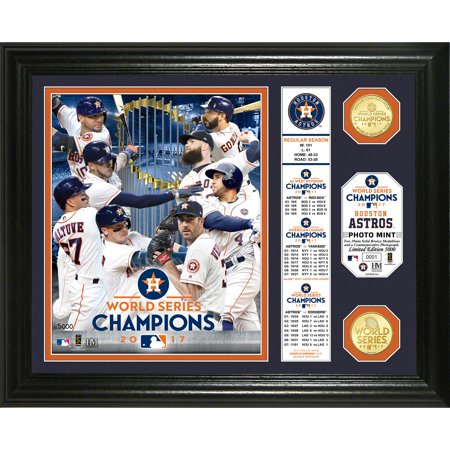 "Houston Astros Highland Mint 2017 World Series Champions 13"" x 16"" Banner Bronze Coin Photomint - No Size"