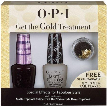 OPI  Get the Gold Treatment Free Gold Gem Nail Flakes (Mens Obi)