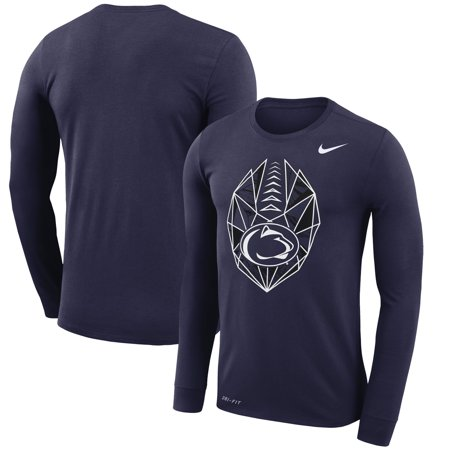 Penn State Nittany Lions Nike Football Icon Performance Long Sleeve T-Shirt - Navy