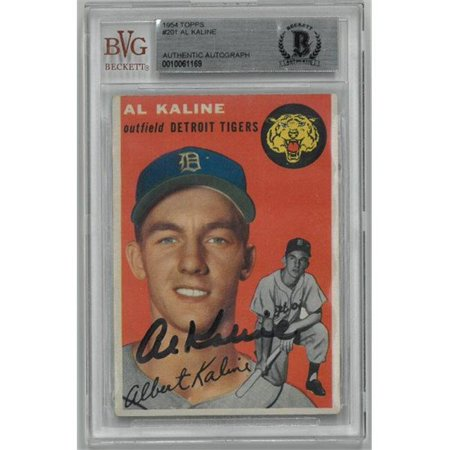 Rdb Holdings Consulting Ctbl 021048 Al Kaline Signed Detroit Tigers 1954 Topps No201 Rookie Trading Card Beckett Encapsulation No0010061169