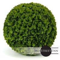 "3rd Street Inn Jasper Topiary Ball - 19"" Artificial Topiary Plant - Wedding Decor - Indoor/Outdoor Artificial Plant Ball - Topiary Tree Substitute (1, Jasper)"