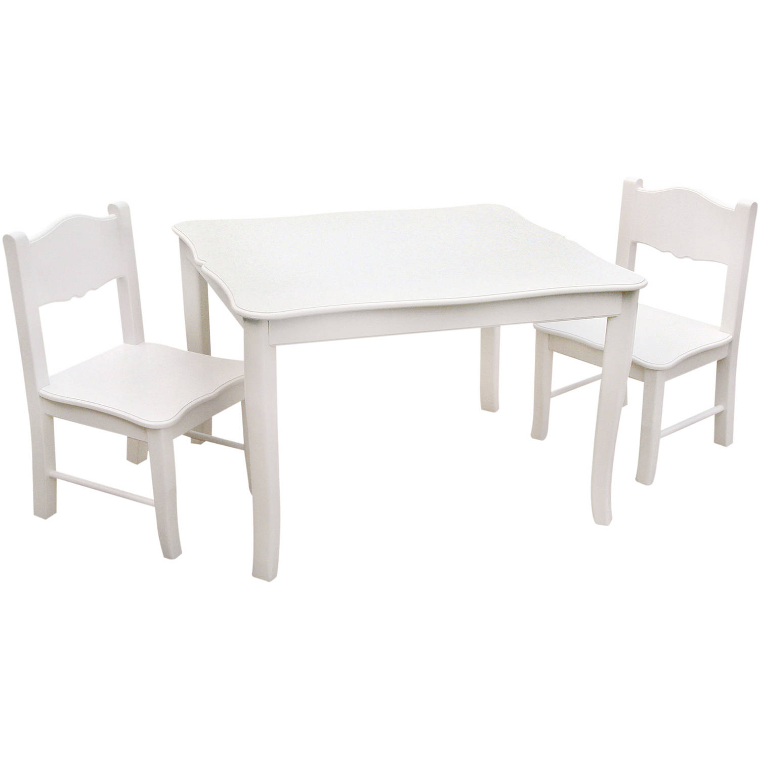 Guidecraft Table and Chairs Set, Classic White