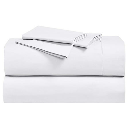 New Soft 100% Cotton Brushed Percale Sheet Sets Long-Stable Cotton 250 Thread Count Sheets With Deep pockets - Queen - White (250 Sheet Duplexer)