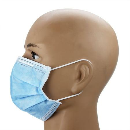 Novashion 50 Pack Disposable Face Masks, 3-ply Elastic Ear Loop Filter Mask - image 2 of 12