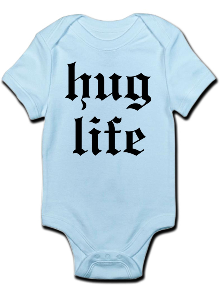 Infant Baby Girls Bodysuit Short-Sleeve Onesie Free Hugs Print Outfit Spring Pajamas