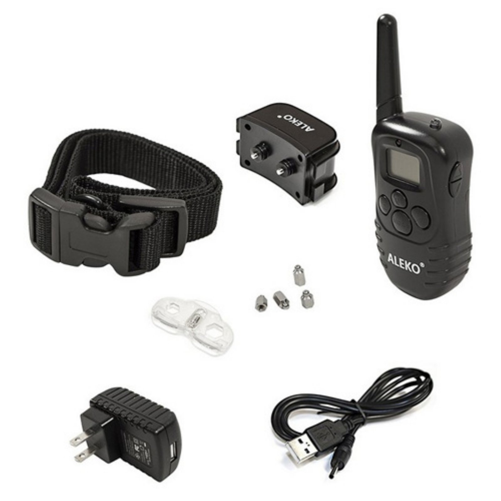 ALEKO TS-TC738 Remote Dog Training Collar Rechargeable and Waterproof Pet Training Device