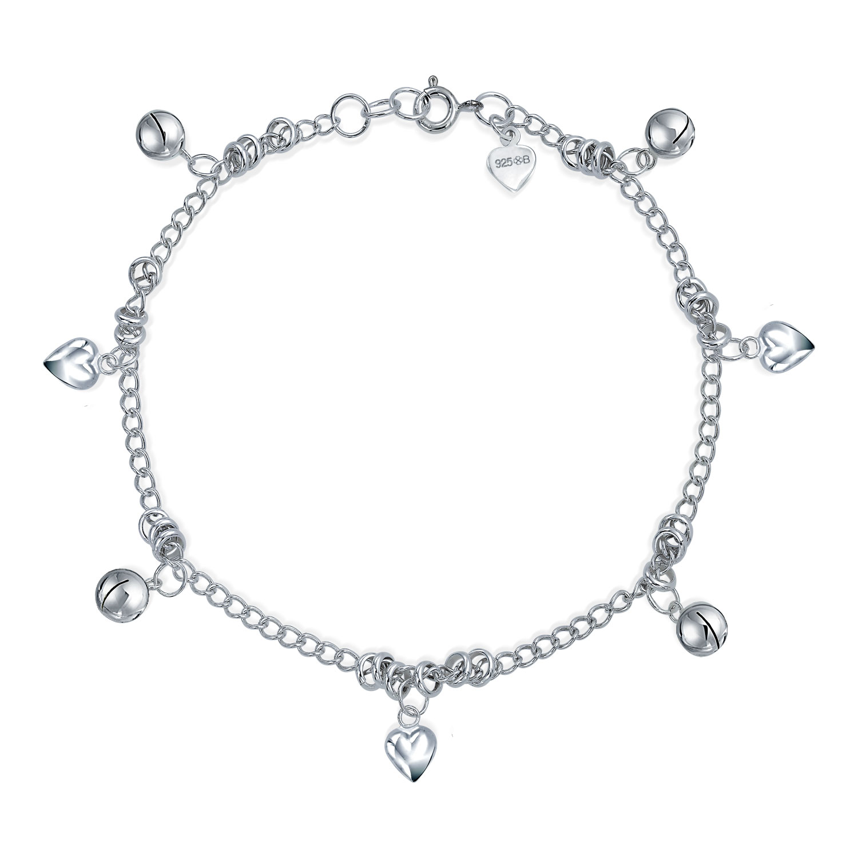 "Multi Popcorn Chain 15+2/"" Necklace w// Interlocking Circles 925 Sterling Silver"
