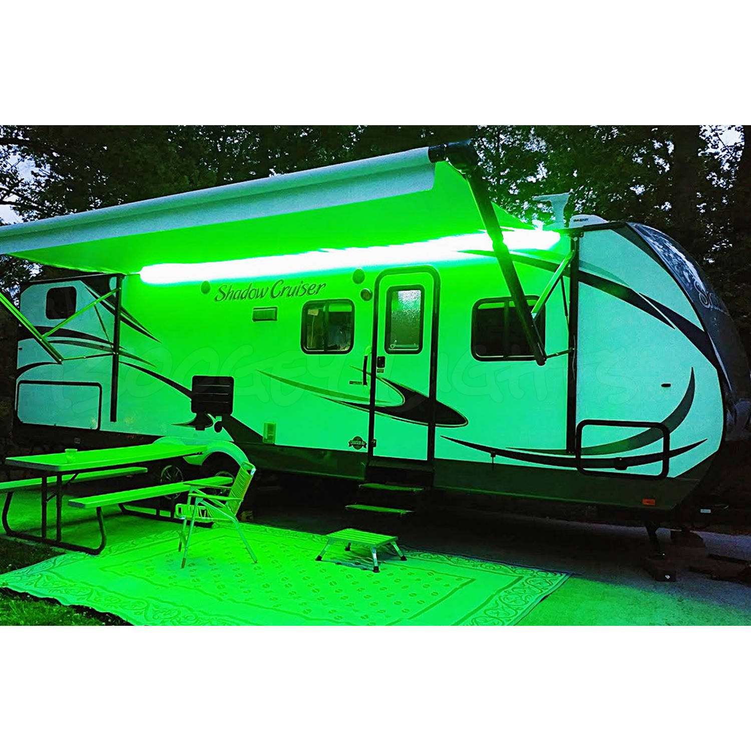Boogey Lights Hi-Intensity LED Awning Light for RVs, Motorhomes and Campers