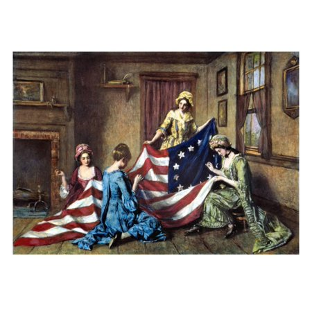 Birth of the Flag Print Wall Art By Henry Mosler