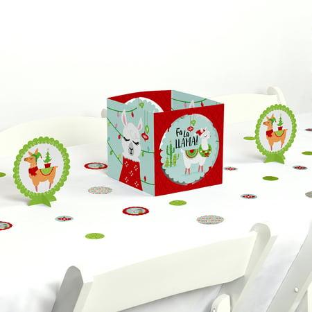 Llama Christmas.Fa La Llama Christmas And Holiday Party Centerpiece And Table Decoration Kit