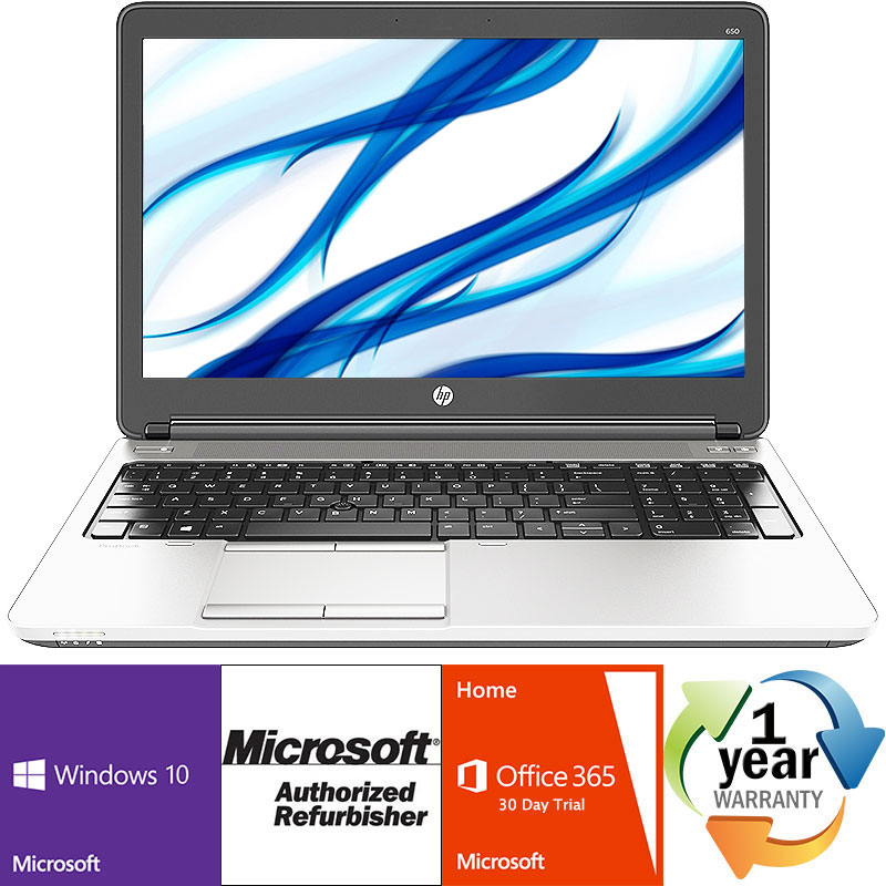 Refurbished HP ProBook 650 G1 2.5GHz DC i5 4GB 500GB DVD Windows 10 Pro 64 Laptop B Camera