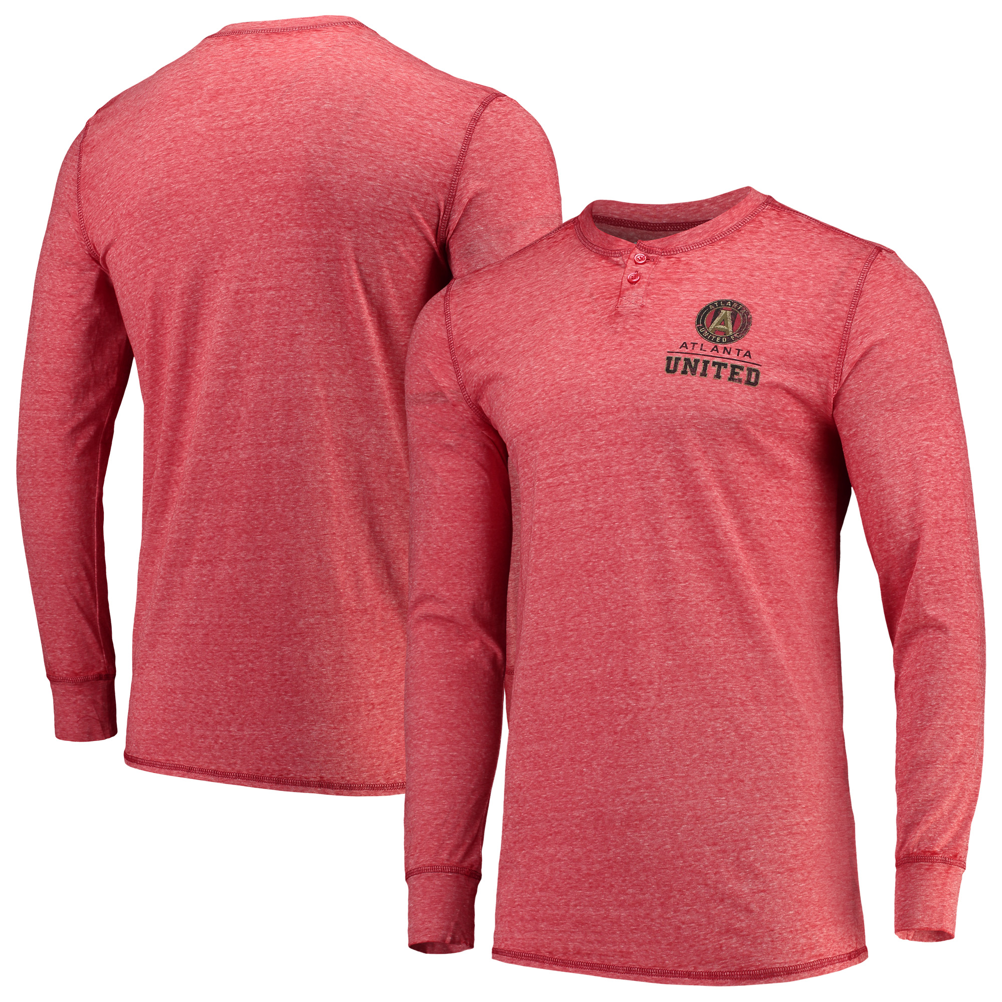 Atlanta United FC Concepts Sport Podium Henley Long Sleeve T-Shirt - Red