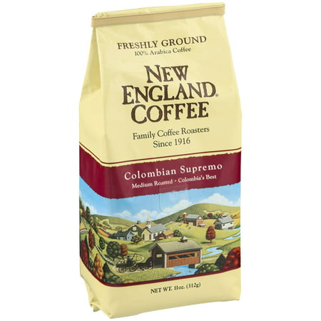 (2 Pack) New England Coffee Colombian Ground Coffee, 11 Oz