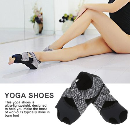 Women Yoga Non-slip Pilates Barre Soft Wrap Dance Training Shoes Grey,Yoga Shoes, Pilates