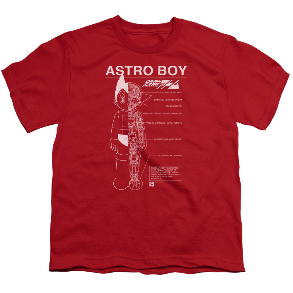 Astro Boy Schematics Big Boys Shirt