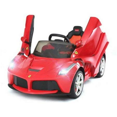 Rastar Ferrari 12V LaFerrari Kids Battery Powered Ride On Car Remote Controlled (2.4ghz RC) (Kids Ferrari Cap)