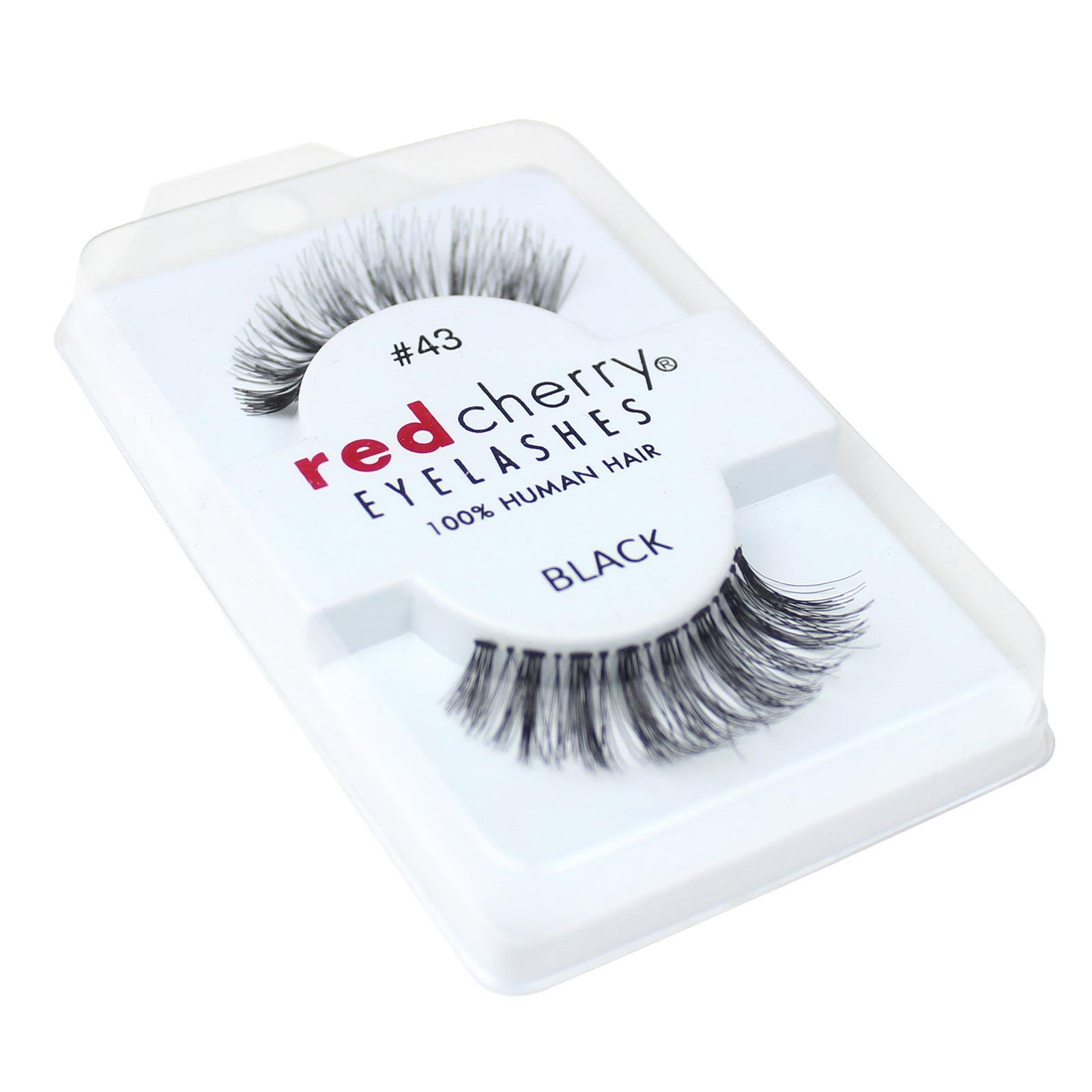 Red Cherry 100% Human Hair False Eye Lashes Fake Eye Lashes #43 Stevl
