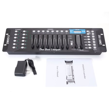 UBesGoo 192CH DMX512 Channel Operator Console Controller for Stage DJ Party Lighting Lamp (AC 100-240V)