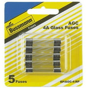 Bussmann BP/AGC-4 Fast Acting Electronic Equipment Fuse, 4 Amp, Card 5