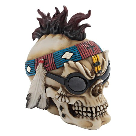 Design Toscano Thunderspirit Goth Biker Skull Statue