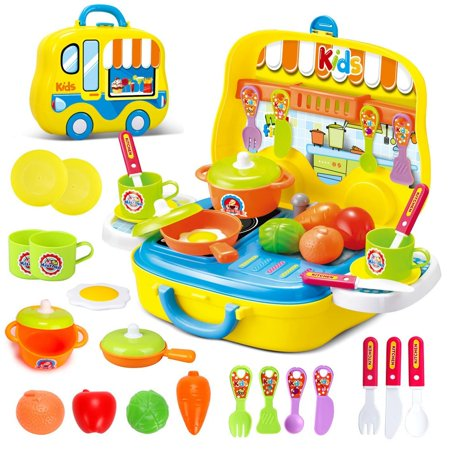 Magnificent Role Play Kitchen Playset Toy Kids Pretend Cooking Kit Food Set Xmas Gift For Children 3 Years Old Download Free Architecture Designs Jebrpmadebymaigaardcom