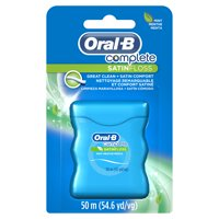 Oral-B Complete SatinFloss Dental Floss, Mint, 50 M