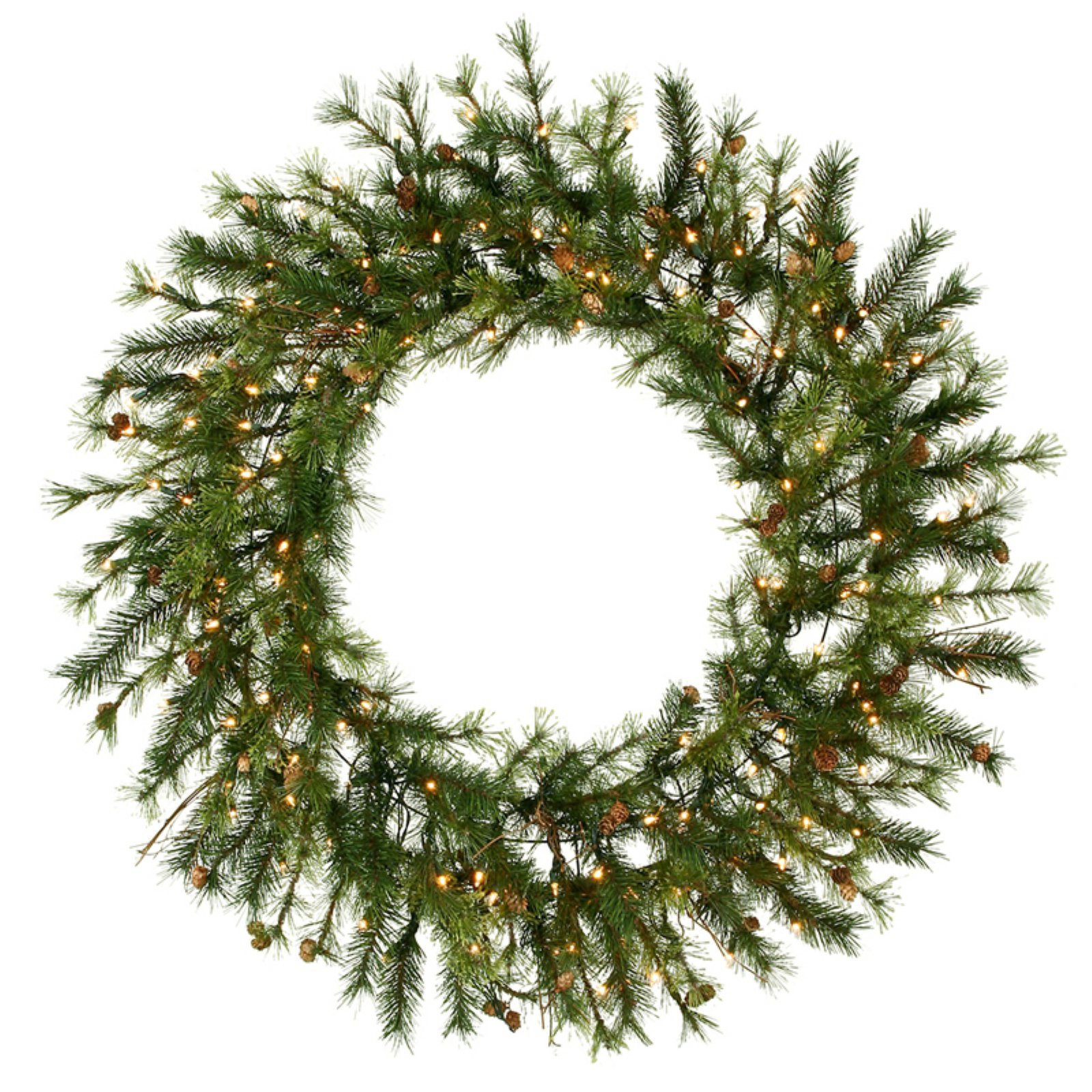 """Vickerman 48"""" Pre-lit Mixed Country Wreath 140CL"""