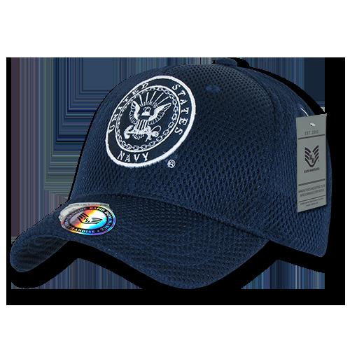 Rapid Dominance US Navy Air Mesh Baseball Hats Caps - Navy