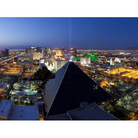 Halloween Events Las Vegas Strip (Elevated View of Casinos on the Strip, Las Vegas, Nevada, USA Print Wall Art By Gavin)