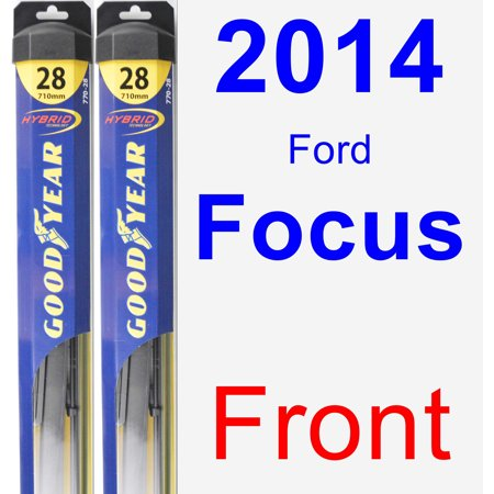 (2014 Ford Focus Wiper Blade Set/Kit (Front) (2 Blades) - Hybrid)