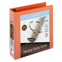"Office Depot® Brand Heavy-Duty Easy Open® D-Ring View Binder, 2"" Rings, 54% Recycled, Orange"