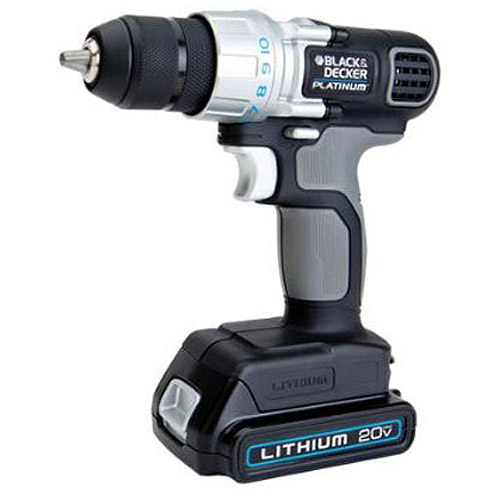 Black and Decker Platinum 20V Drill/Driver with 2 Batteries, LDX120P-2