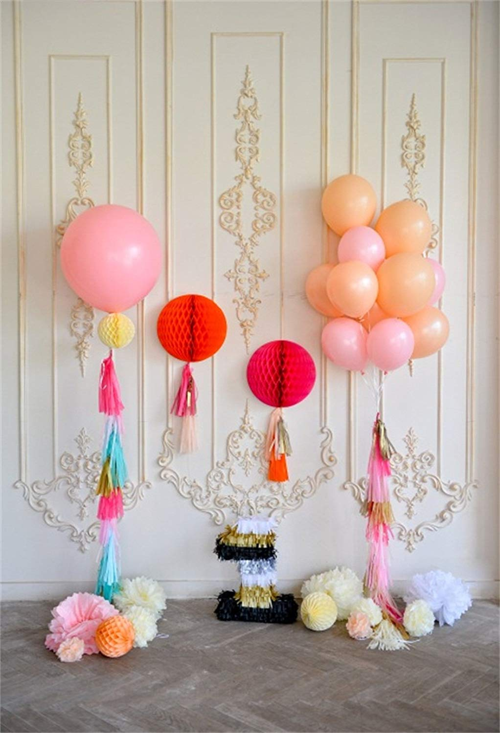 ABPHOTO Polyester 5x7ft Cake Smash Backdrop Girl 1st Birthday Backdrops For Photography First Party Decorations Photo Background Studio Props