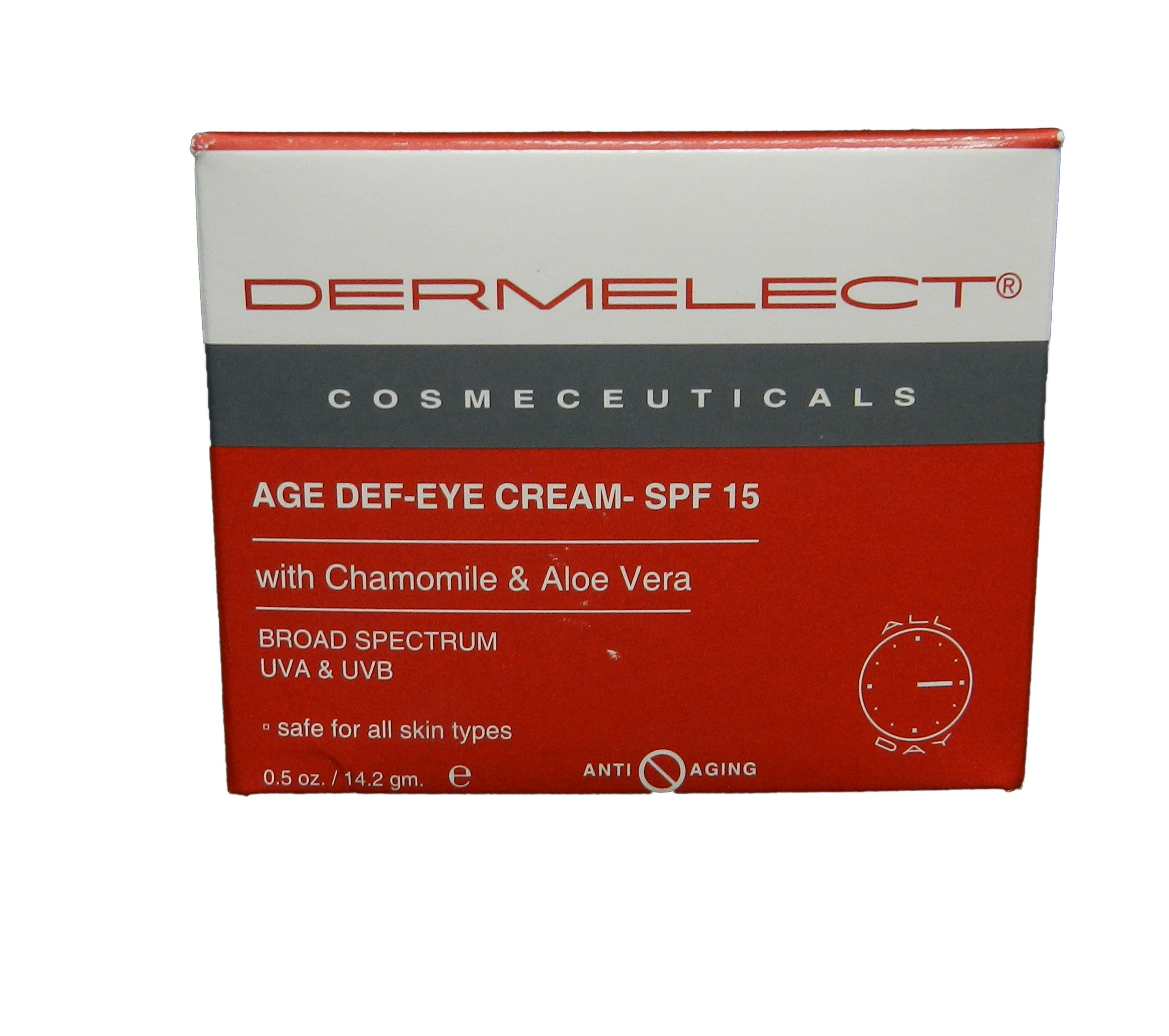 Dermelect - Age Def-Eye Cream SPF 15 -14.2g/0.5oz 4 Pack - Dermaluxe Advanced Cleansing System, White 1 ea
