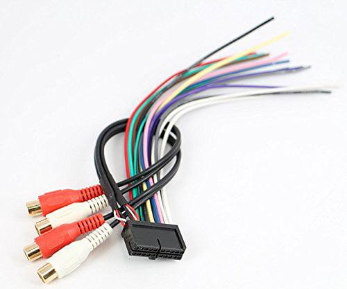 ASC Audio Car Stereo Radio Wire Harness for Jensen 20Pin CD6112 CD3610  MP5610 CD335X CD450K VM8012 VM8013 - Walmart.com - Walmart.comWalmart