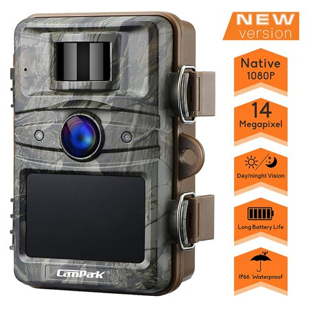 Campark Trail Camera 14MP 1080P HD Wildlife Scouting Hunting Cam 940nm 44Pcs IR LEDs Night Vision Motion Activated with 2.4