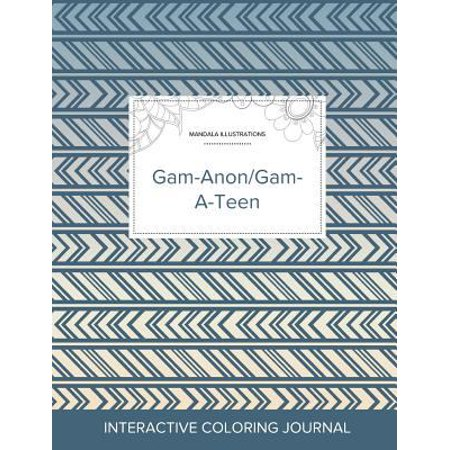 Adult Coloring Journal  Gam Anon Gam A Teen  Mandala Illustrations  Tribal